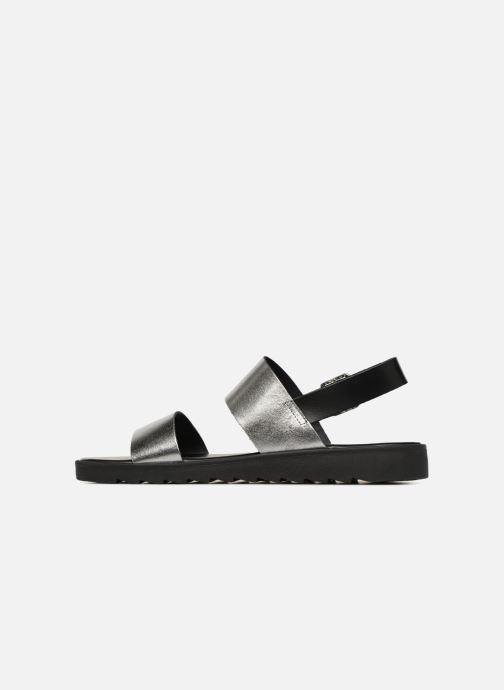 Sandales et nu-pieds Pieces LEATHER SANDAL Argent vue face