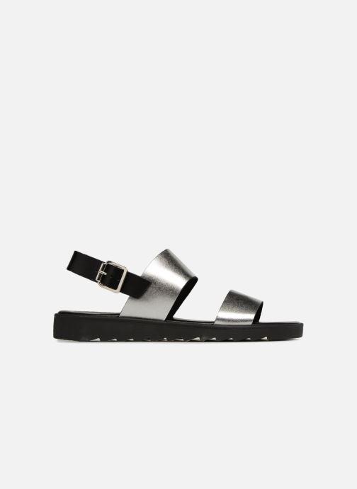 Sandales et nu-pieds Pieces LEATHER SANDAL Argent vue derrière