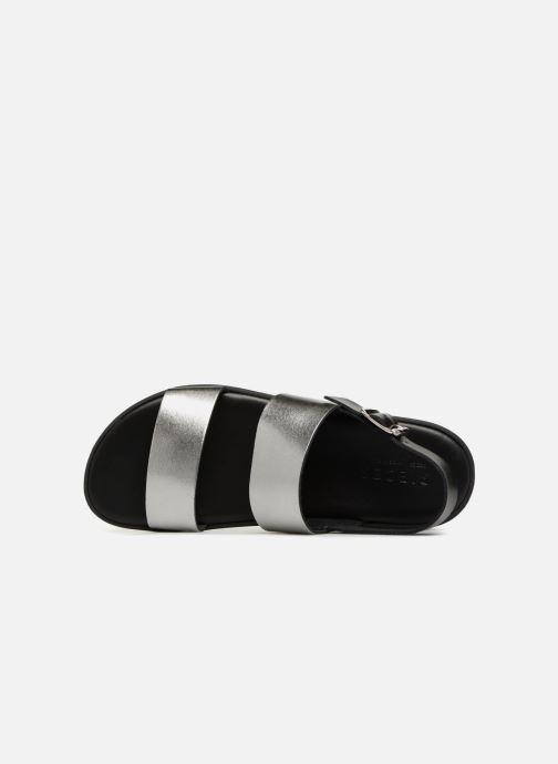 Sandales et nu-pieds Pieces LEATHER SANDAL Argent vue gauche