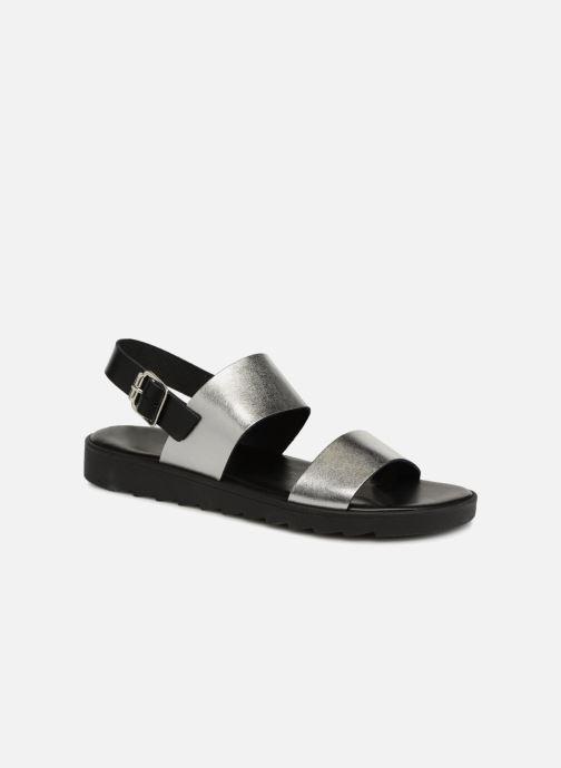 Sandales et nu-pieds Pieces LEATHER SANDAL Argent vue détail/paire