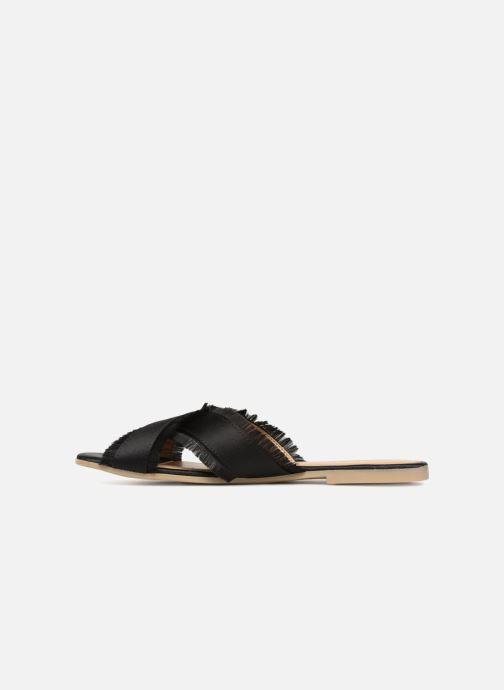 Zuecos Pieces Muse sandal Negro vista de frente