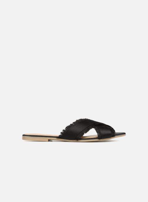 Wedges Pieces Muse sandal Zwart achterkant