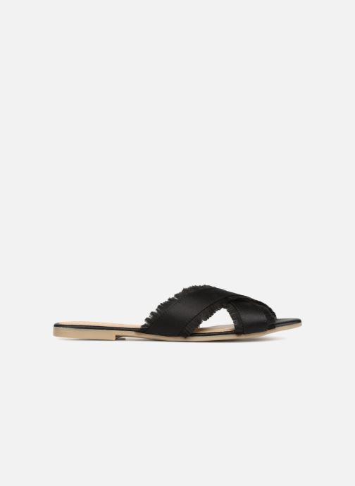 Zuecos Pieces Muse sandal Negro vistra trasera