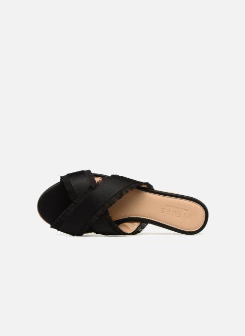 Zuecos Pieces Muse sandal Negro vista lateral izquierda