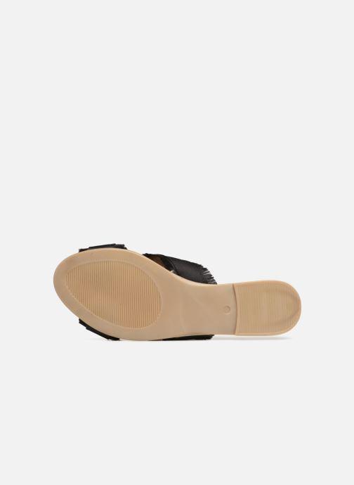 Zuecos Pieces Muse sandal Negro vista de arriba