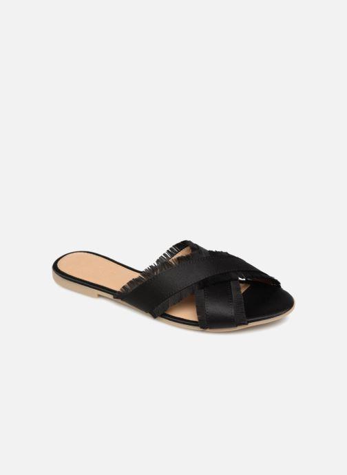 Zuecos Pieces Muse sandal Negro vista de detalle / par