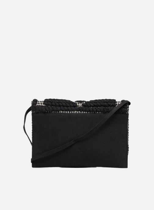 Handtassen Pieces POCHETTE RAPHIA Zwart voorkant