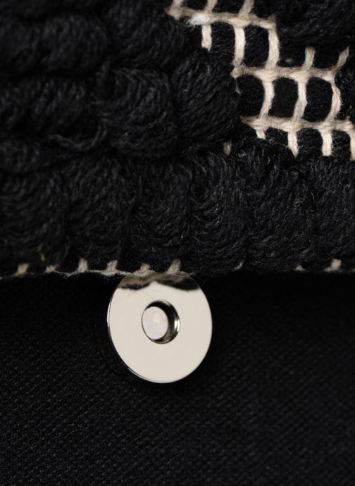 Bolsos de mano Pieces POCHETTE RAPHIA Negro vista lateral izquierda