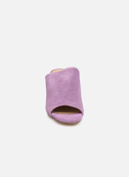 Mules & clogs Pieces MELA SUEDE MULE Purple model view