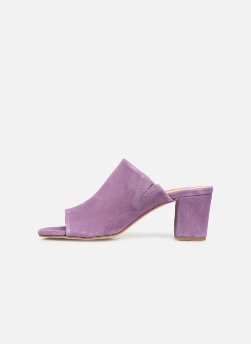 Mules & clogs Pieces MELA SUEDE MULE Purple front view