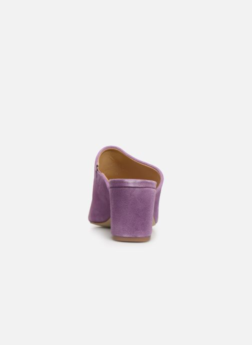 Mules & clogs Pieces MELA SUEDE MULE Purple view from the right