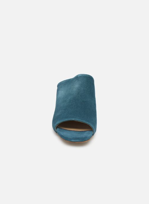 Wedges Pieces MELA SUEDE MULE Blauw model