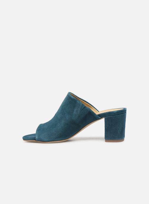 Mules & clogs Pieces MELA SUEDE MULE Blue front view