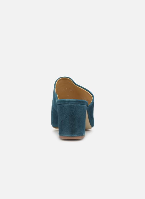 Mules & clogs Pieces MELA SUEDE MULE Blue view from the right