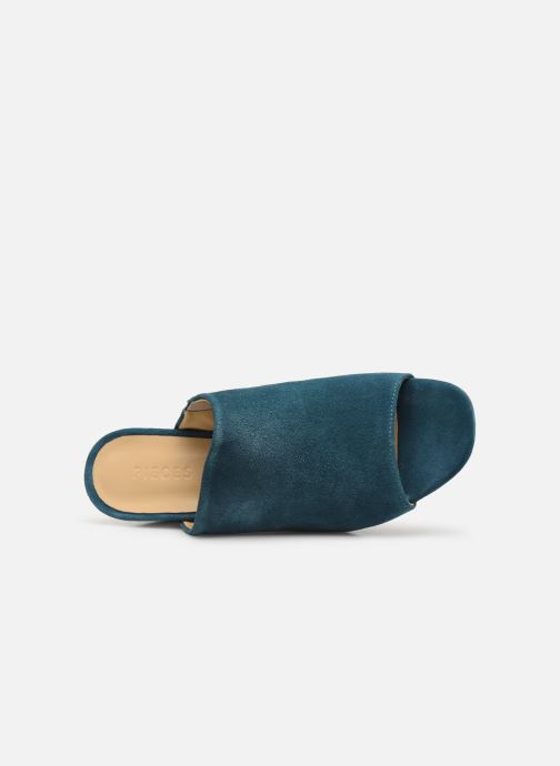 Clogs & Pantoletten Pieces MELA SUEDE MULE blau ansicht von links