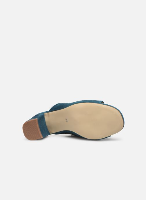 Mules & clogs Pieces MELA SUEDE MULE Blue view from above