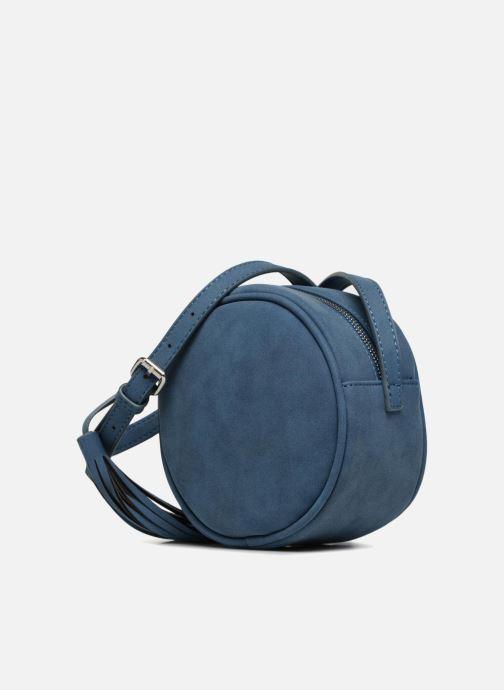 Bolsos de mano Pieces SUEDE OVAL BAG Azul vista del modelo