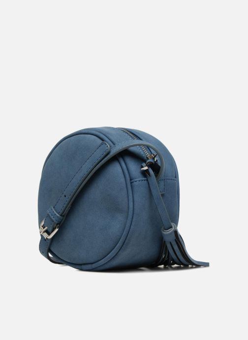 Bolsos de mano Pieces SUEDE OVAL BAG Azul vista lateral derecha