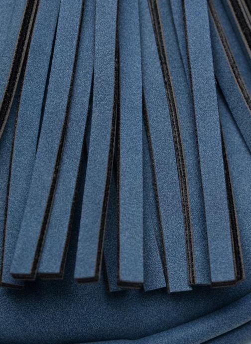 Bolsos de mano Pieces SUEDE OVAL BAG Azul vista lateral izquierda