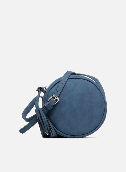 Bolsos de mano Pieces SUEDE OVAL BAG Azul vista de detalle / par