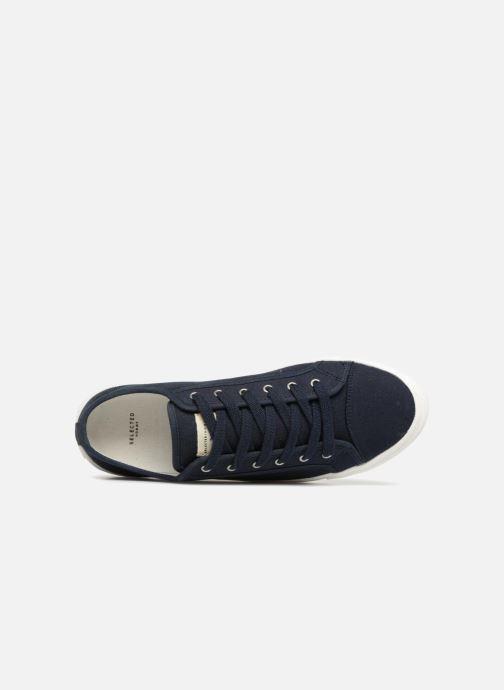 Baskets Selected Homme Canvas sneakers Bleu vue gauche