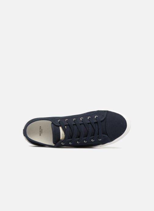 Baskets Selected Homme Canvas sneakers Bleu vue gauche