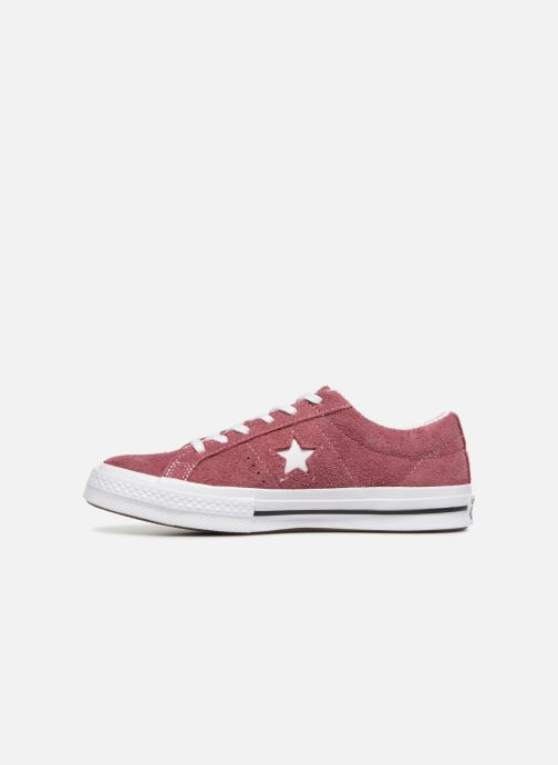 Trainers Converse One Star Vintage Suede Ox Burgundy front view
