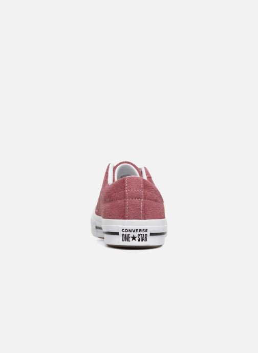 Trainers Converse One Star Vintage Suede Ox Burgundy view from the right