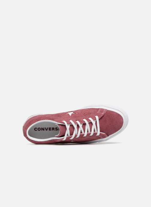 Trainers Converse One Star Vintage Suede Ox Burgundy view from the left