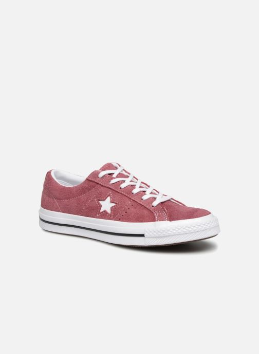 Trainers Converse One Star Vintage Suede Ox Burgundy detailed view/ Pair view