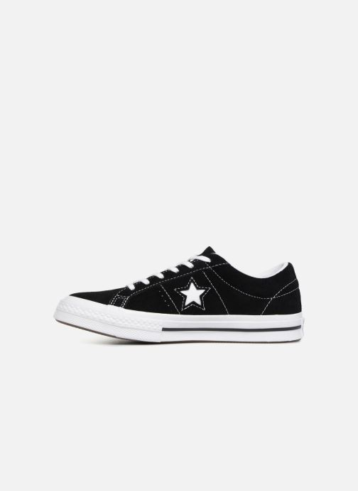 Trainers Converse One Star Vintage Suede Ox Black front view