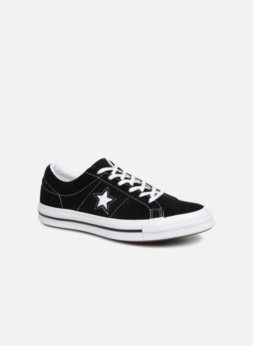 Trainers Converse One Star Vintage Suede Ox Black detailed view/ Pair view