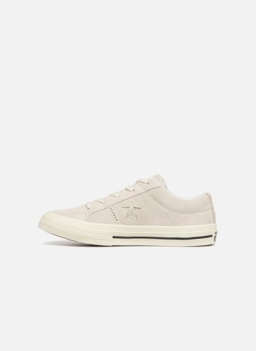 Trainers Converse One Star Suede + Precious Metallic Logo Ox Beige front view