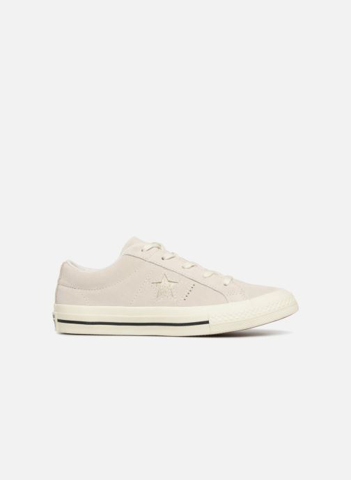 Trainers Converse One Star Suede + Precious Metallic Logo Ox Beige back view