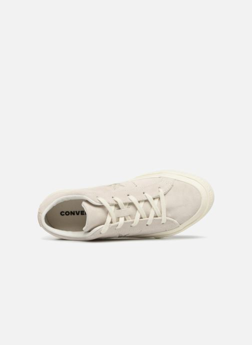 Trainers Converse One Star Suede + Precious Metallic Logo Ox Beige view from the left