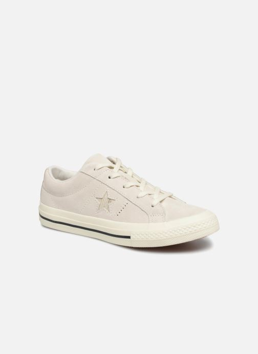 Trainers Converse One Star Suede + Precious Metallic Logo Ox Beige detailed view/ Pair view