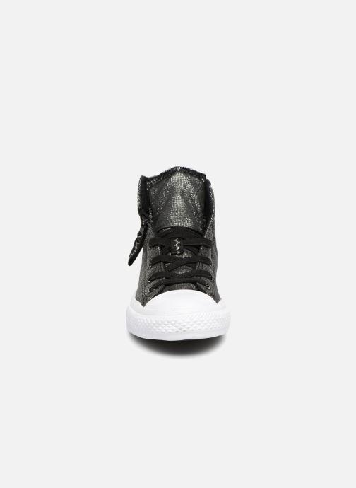 Sneaker Converse Chuck Taylor All Star Pull-Zip Fairy Dust Hi schwarz schuhe getragen