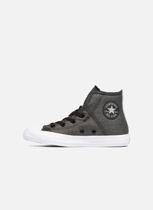 Sneaker Converse Chuck Taylor All Star Pull-Zip Fairy Dust Hi schwarz ansicht von vorne