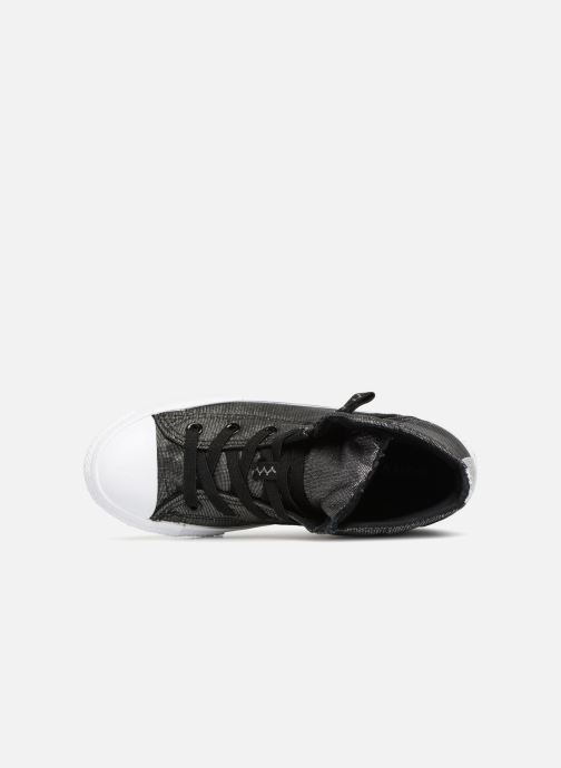 Sneaker Converse Chuck Taylor All Star Pull-Zip Fairy Dust Hi schwarz ansicht von links