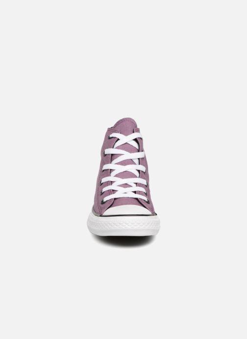 Baskets Converse Chuck Taylor All Star Seasonal Color Hi Violet vue portées chaussures