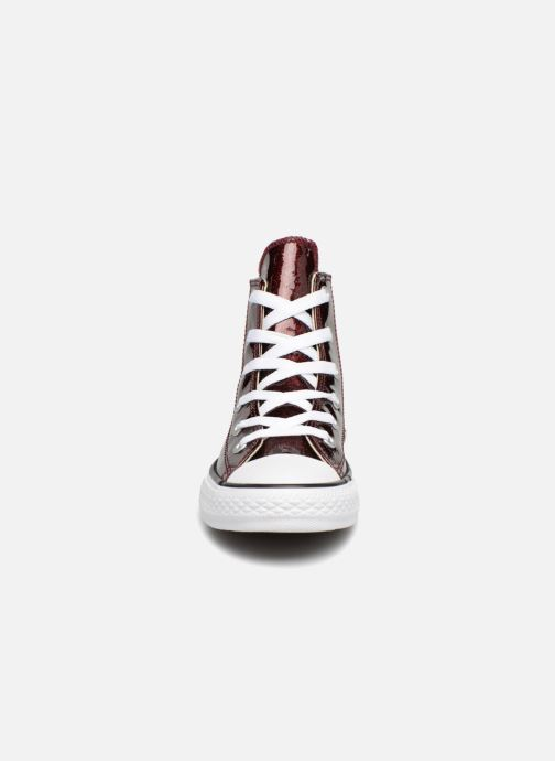 ce6af118dce5d3 Trainers Converse Chuck Taylor All Star Autumn Glitter Hi J Burgundy model  view