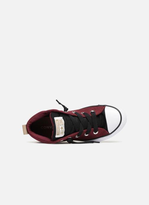 Sneakers Converse Chuck Taylor All Star Street Fall Uniform Mid Vinröd bild från vänster sidan