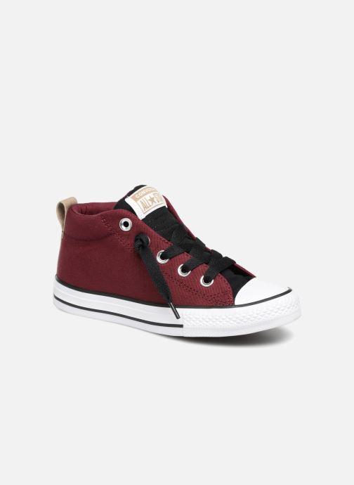 Sneakers Converse Chuck Taylor All Star Street Fall Uniform Mid Vinröd detaljerad bild på paret