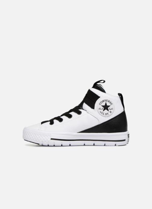 Sneaker Converse Chuck Taylor All Star High Street Lite School Scrimmage Hi J weiß ansicht von vorne