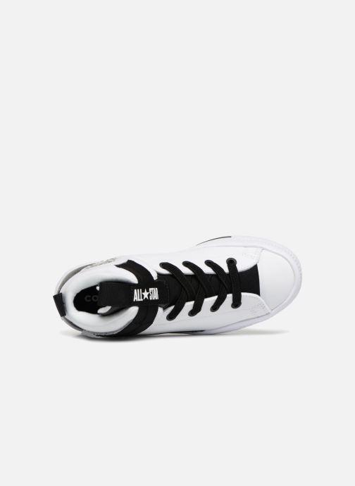 Sneaker Converse Chuck Taylor All Star High Street Lite School Scrimmage Hi J weiß ansicht von links