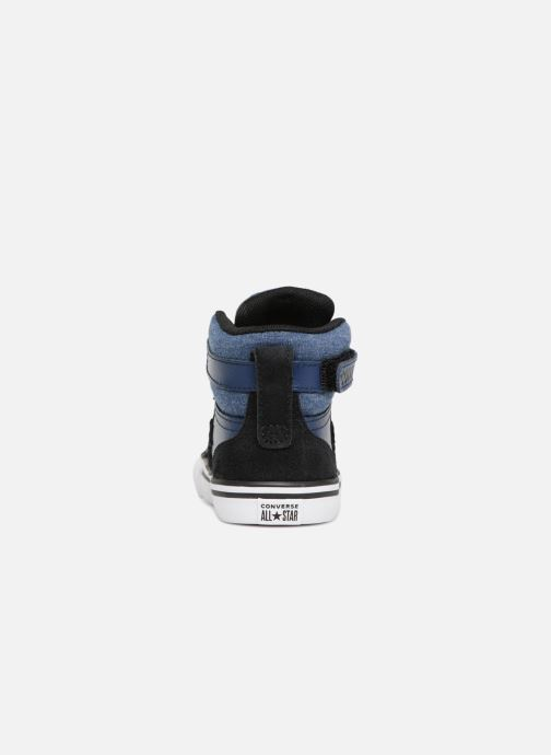 Trainers Converse Pro Blaze Strap Fall Mash Up Hi Blue view from the right