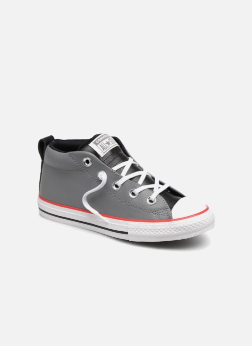 fe0bae36adec5 Baskets Converse Chuck Taylor All Star Street Collegiate Leather Mid Gris  vue détail paire