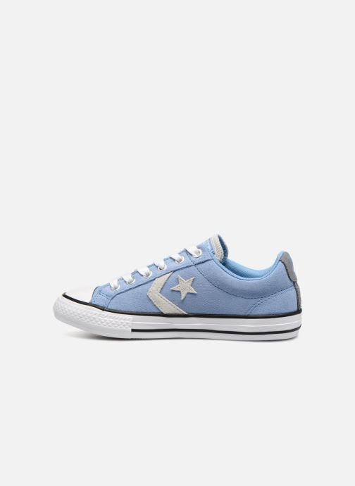 Deportivas Converse Star Player Athletic Suede Ox Azul vista de frente