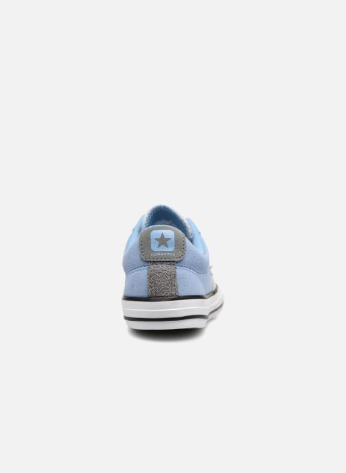 Deportivas Converse Star Player Athletic Suede Ox Azul vista lateral derecha