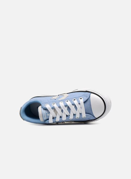 Deportivas Converse Star Player Athletic Suede Ox Azul vista lateral izquierda
